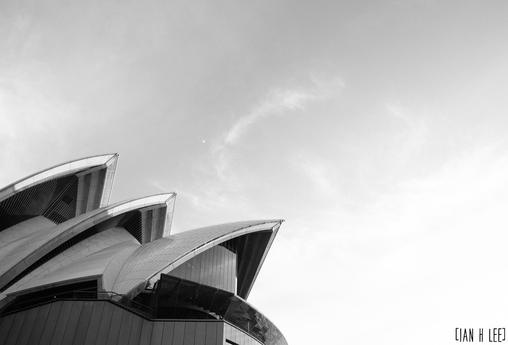 [Ian H Lee] Photography || Travel - Sydney :: Opera House Top BW.jpg
