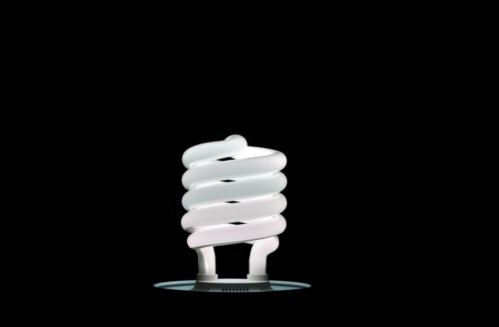 CFL light bulb. © Michael M. Way