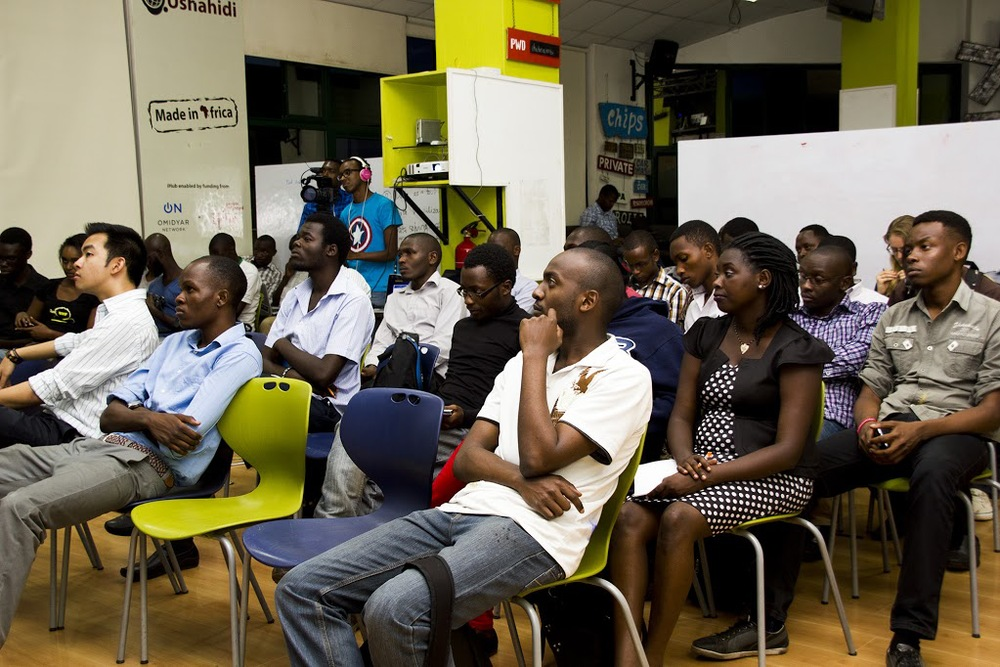 The meetup gathered a diverse audience curious to learn about NI products and services. Photo credit: iHub Photography