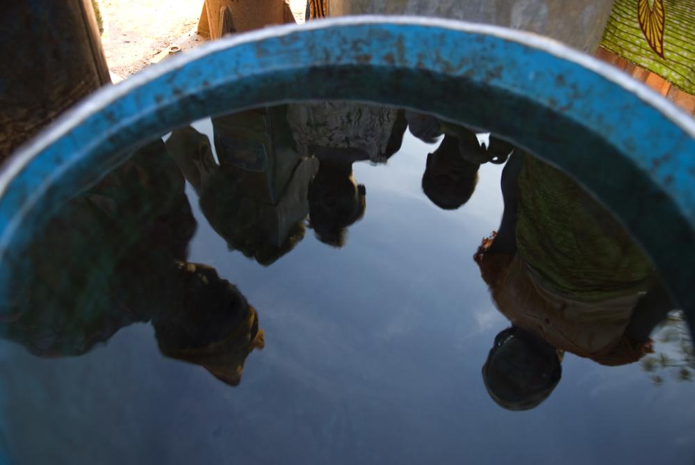 Reflection in water tank.© Arne Hoel / World Bank