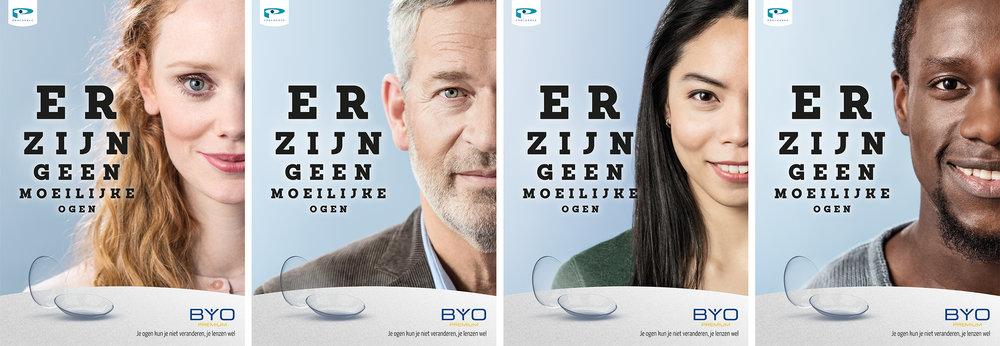 L'eau: Campagne voor Procornea/Byo contactlenzen
