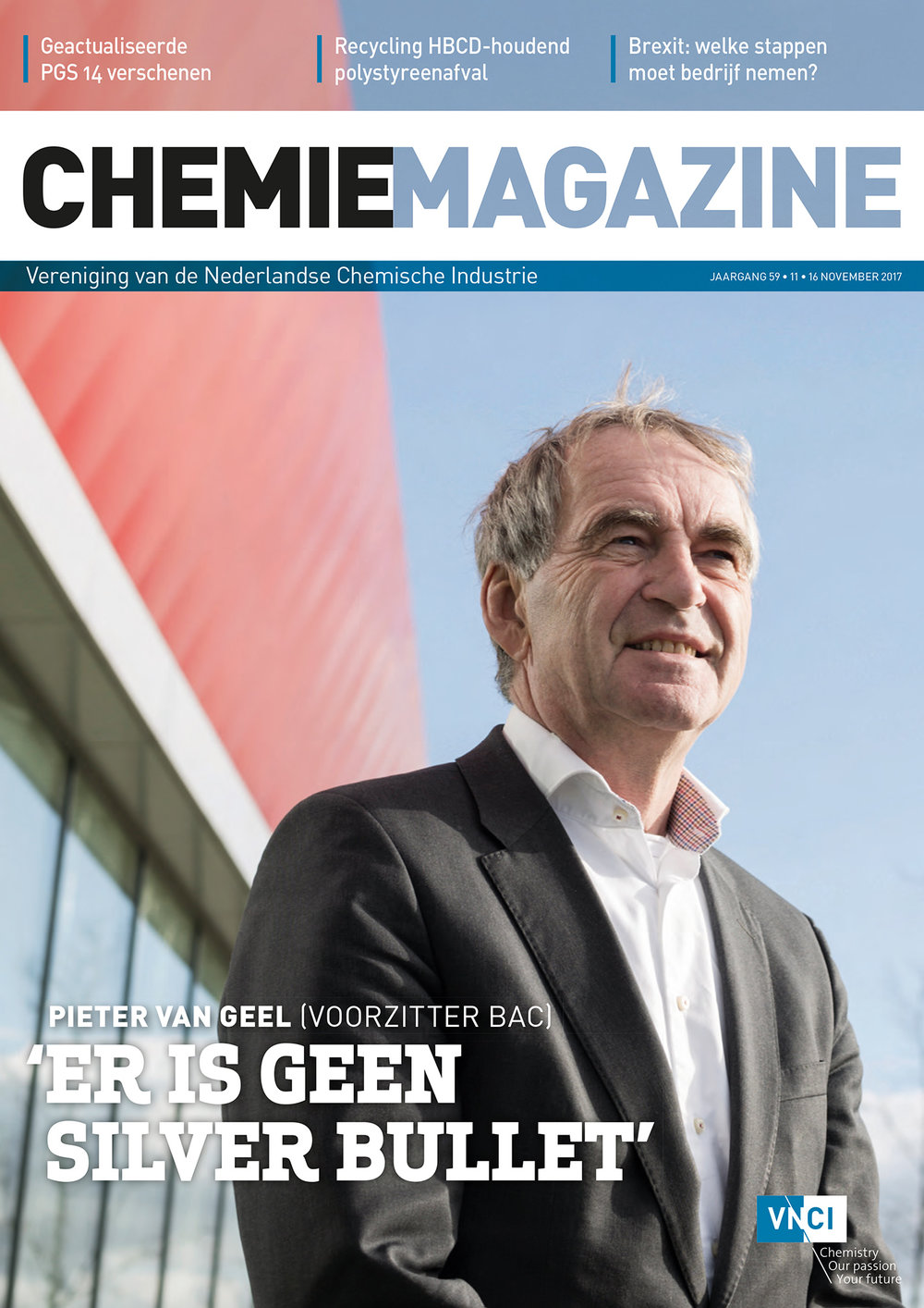 Curve: coververhaal Chemie-magazine.