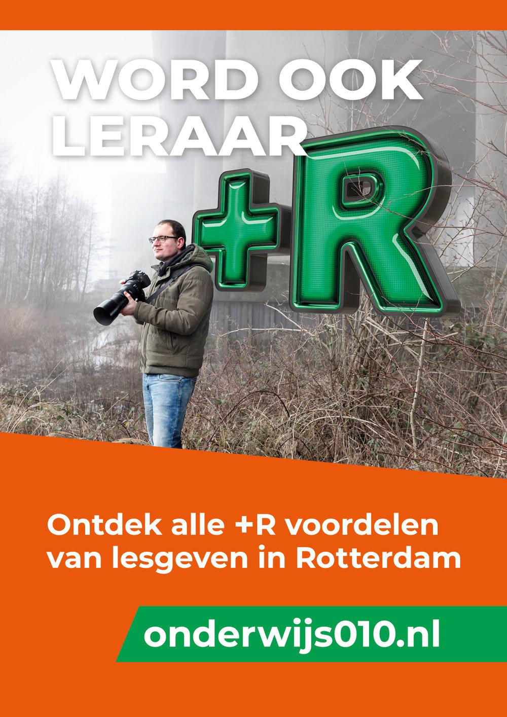 0to9: Campagne voor 'Word een Leraar+R in Rotterdam', Frank.