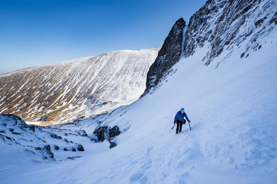 Natalie Berry in Coire na Ciste, sampling winter climbing © Chris Prescott/Hot Aches Productions