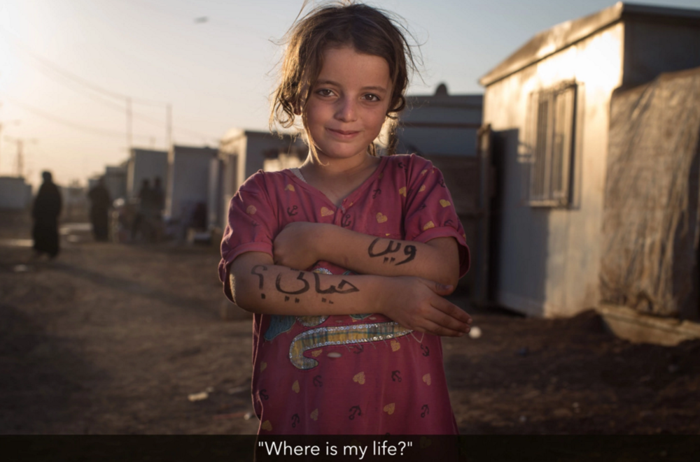Unnamed Syrian girl. Photo © Benjamin Reece and Robert X. Fogarty