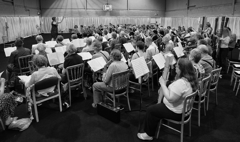 Helen conducting at The Recorder Summer School, August 2014