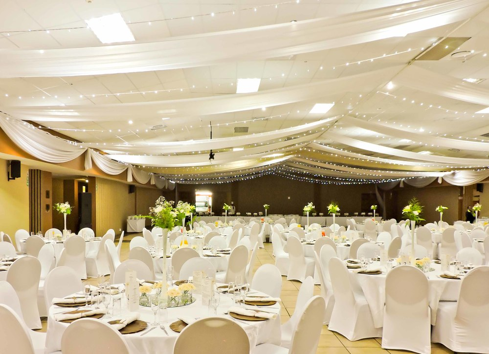 All White Wedding Reception In Bolivia Lodge S Limpopo Hall