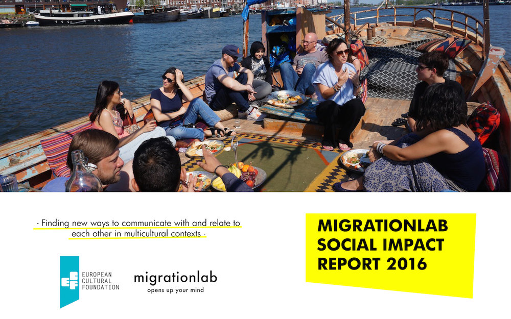 Graphic design strategy and co-author of the Social Impact Report, Migrationlab 2016.