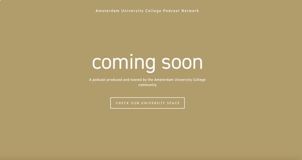 Website design and implementation for the Amsterdam University College Podcast Network Website.