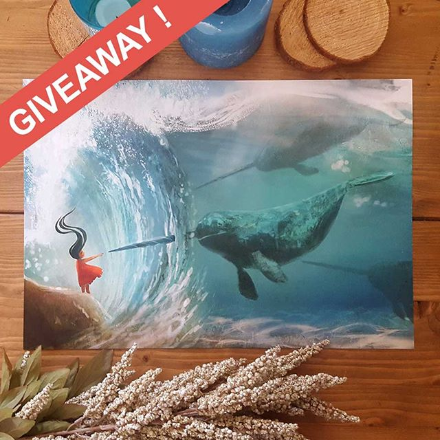 [ G I V E A W A Y ] Time! - To say THANKYOU for following I am giving away a limited edition A3 print of my Narwhal illustration that recently won a competition with @wacom @ctiaf . To enter please read Below! . ----TO  E N T E R---- . 1) Follow my page @lorraine_alvarez_posen 2) 'Like' this post 3) Comment -'Narwhals' . ---------------------- . That's it! Competition closes Thurs 7th June. The winner will be announced Mon 11th June.  NOTE: The print will be mailed to where ever you are in the world. :) . . . . #lorrainealvarezposen #illustrationow  #visdev  #Dailyart #childrenswritersguild #instaart #narwhal #best_of_illustrations #artgiveaway #giveaway #artgiveaways #win #printgiveaway #oceanvibes #illustrationgiveaway
