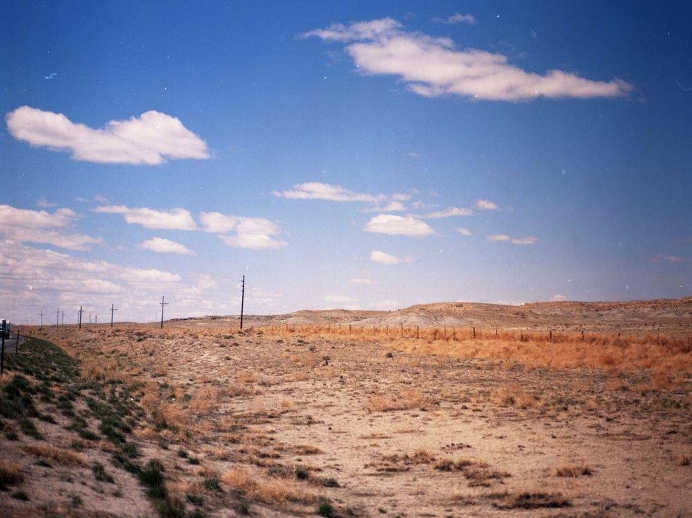 Wyoming in April, medium format film.