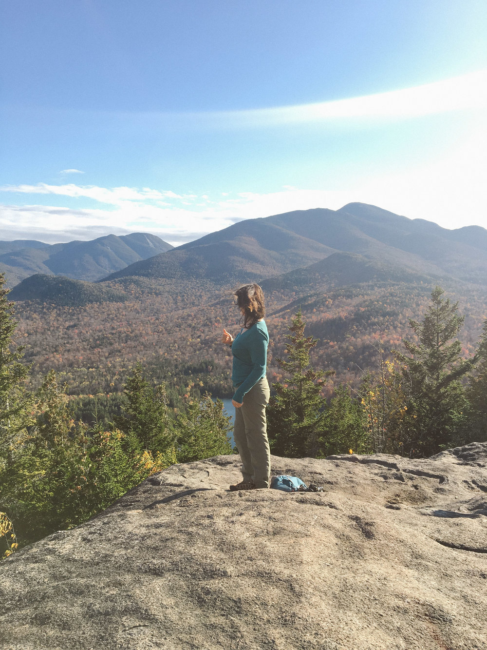 vista on the top of mt. jo in the adirondacks