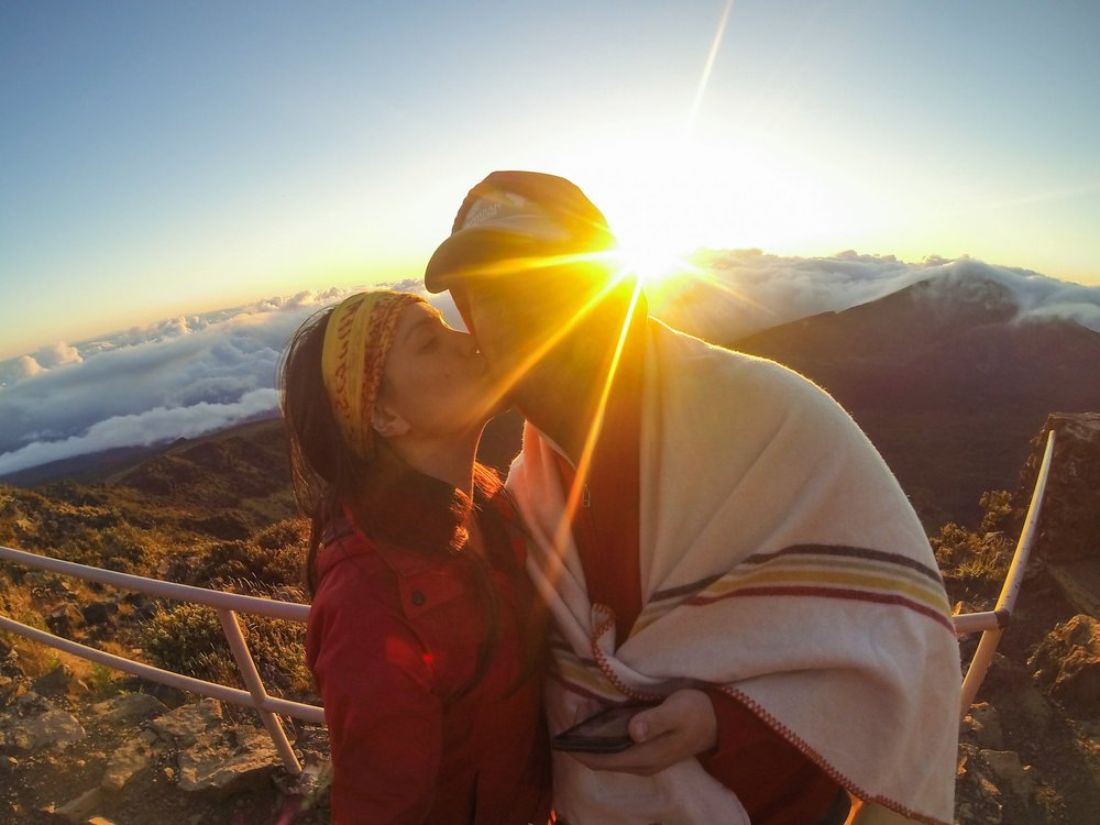 Day 2: Haleakala National Park: Summit District - Biting winds, gorgeous sunrises, and a surprise proposal