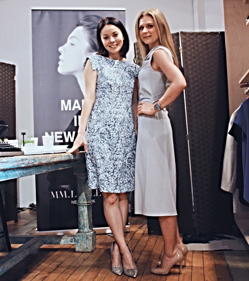 Sarah LaFleur in The Sarah dress in Indigo Marble. I'm wearing The Eleanor dress.