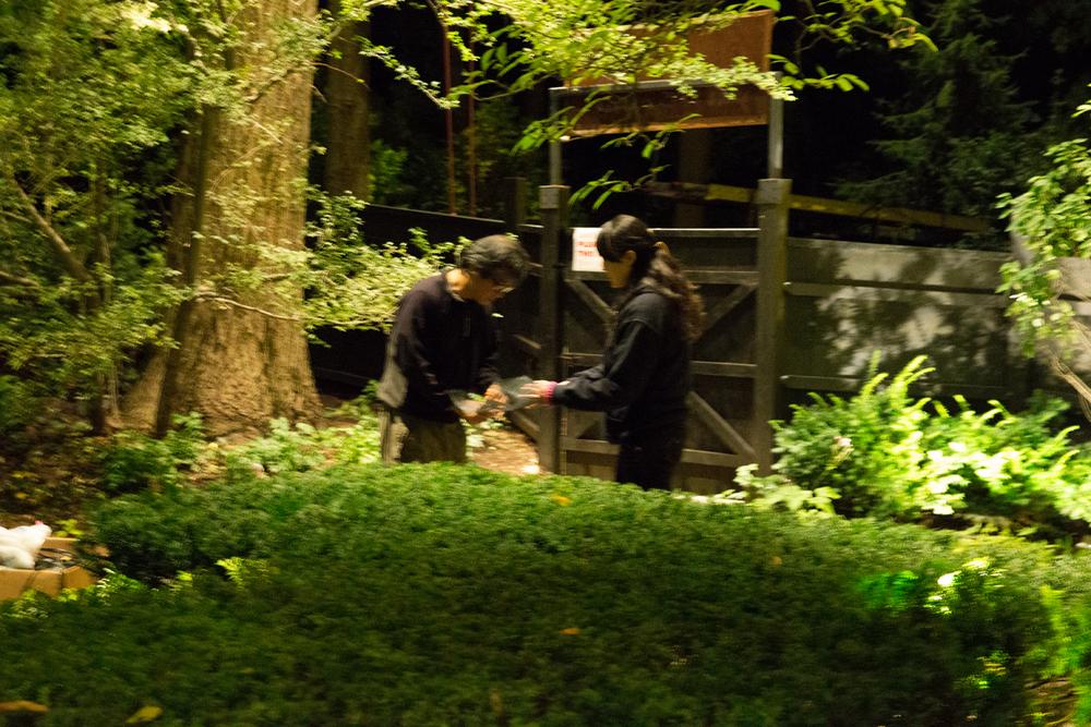Reiko and Satoshi aiming in Area B