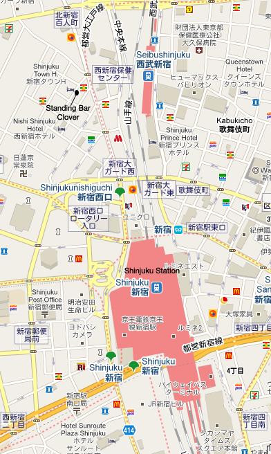 Standing Bar Clover Map
