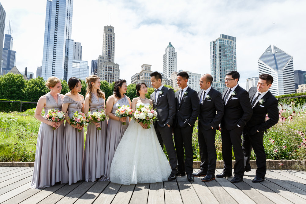 A great thing about getting married in Chicago is that you and your wedding party have so many gorgeous photo locations to choose from!
