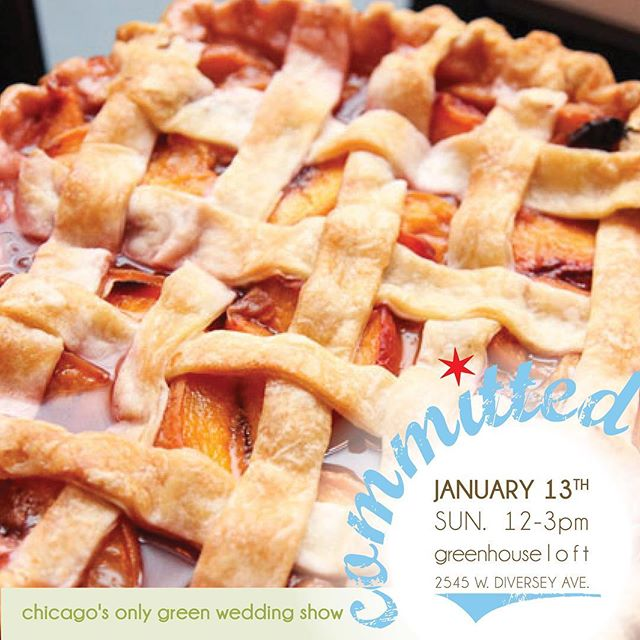 Planning your wedding will be easy as pie if you come to Committed. Grab your sweetie pie and join the members of the @greenweddingalliance next Sunday. Pie'm looking forward to seeing you all! Get your tix today!