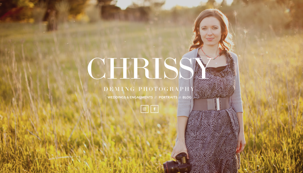Website created for a local Photographer, Chrissy.