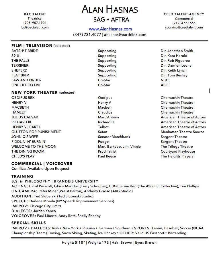 Resume — ALAN HASNAS