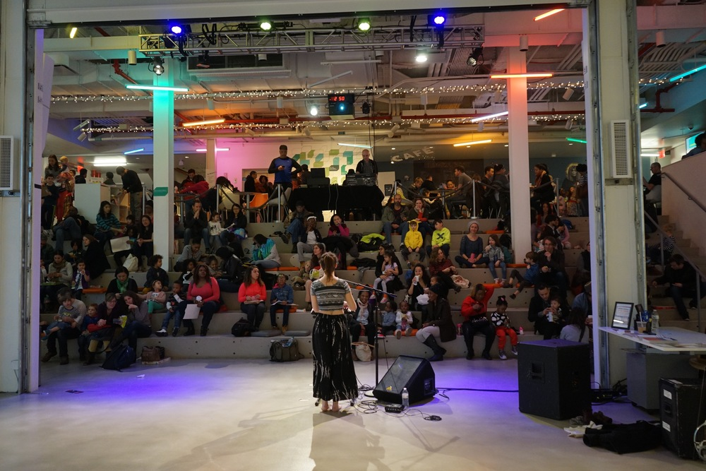 """My attempt at the whole """"diva before her adoring crowd"""" shot. Mainly to give you an idea of the size of Julia's audience during her set."""