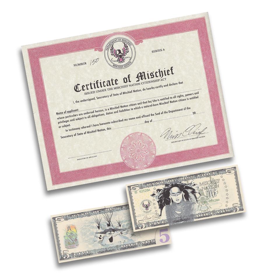 Certificate of Mischief Nation
