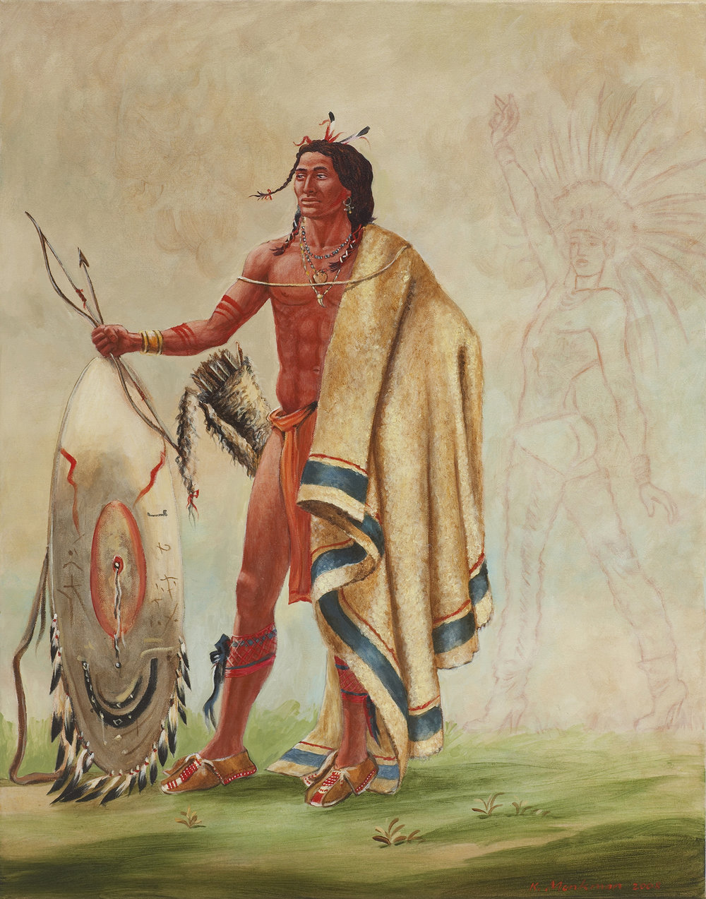 Kotz-A-Tó-Ah (Smoked Shield, A Distinguished Warrior) with Faint Heart 38,757