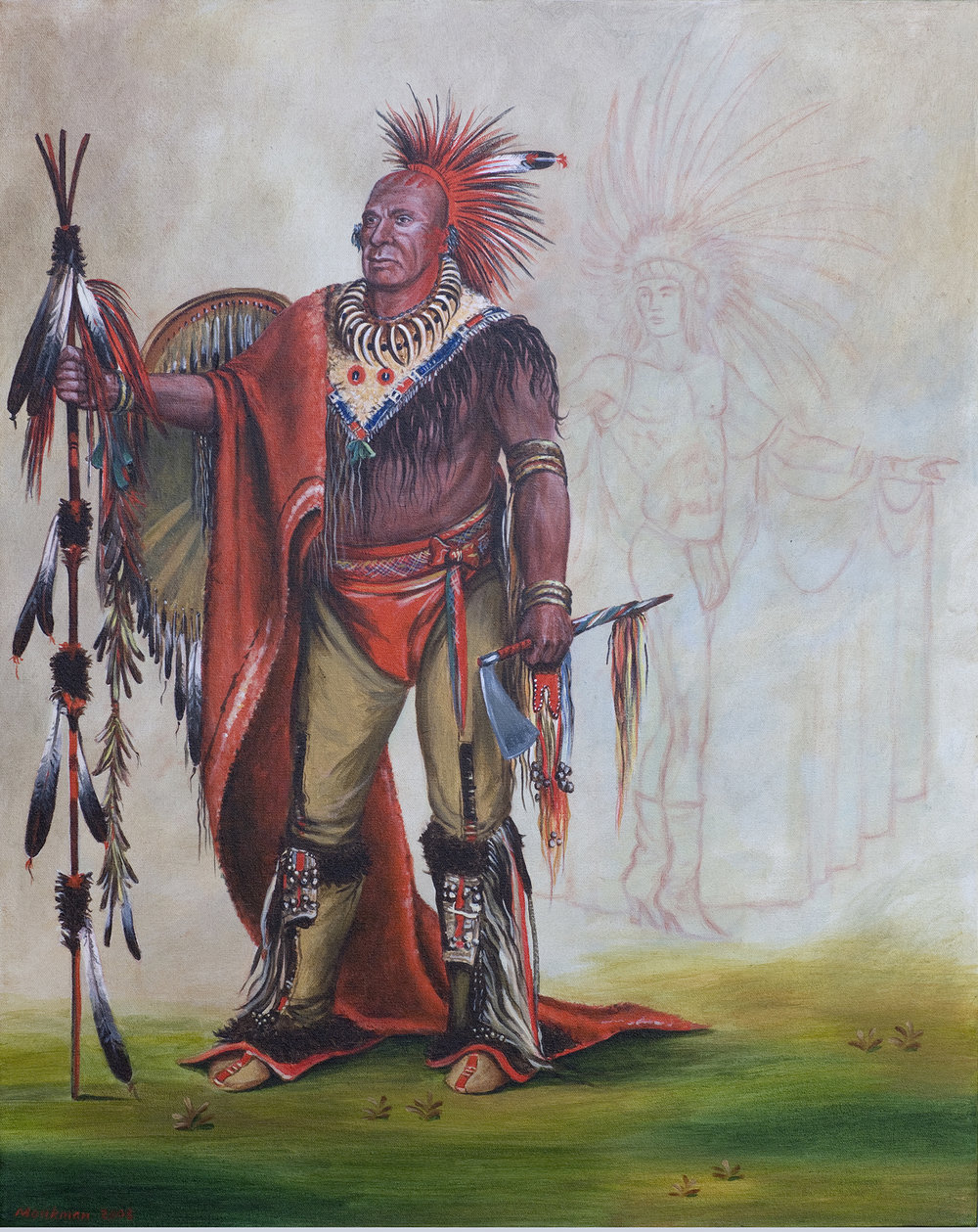 The Watchful Fox, Chief of the Tribe with Tinselled Buck No. 4,520