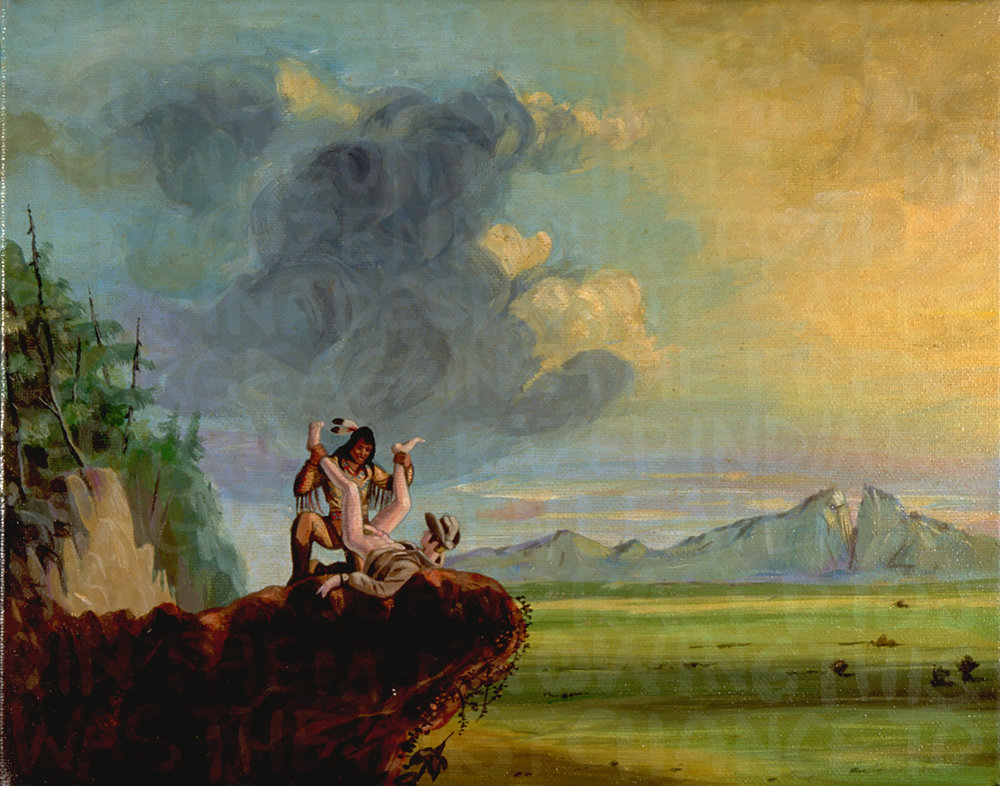 Daniel Boone''s First View of The Kentucky Valley