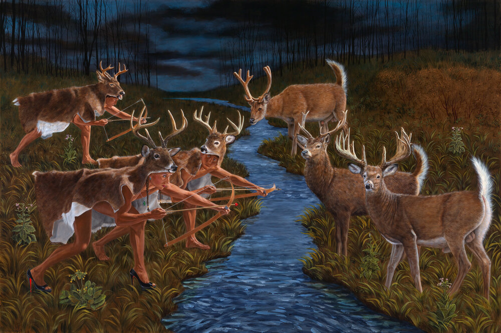 Stag Hunting (After Theodor de Bry)
