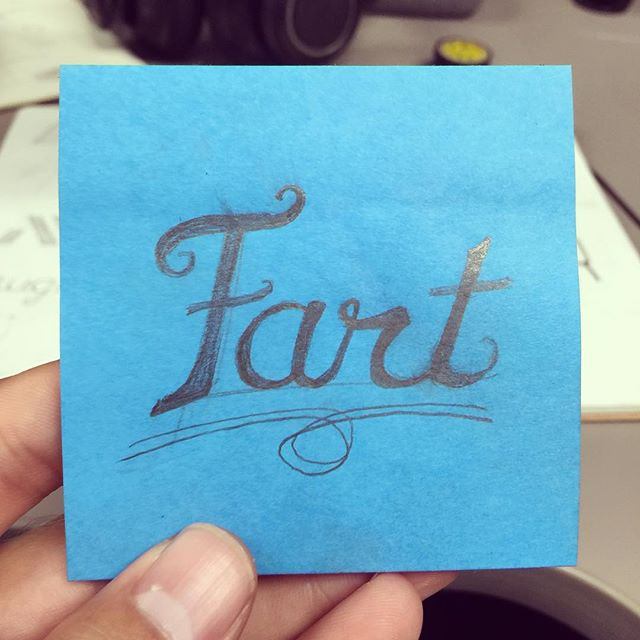 My hand lettering skills are lacking, but I think the content makes up for it. ☺️💨😳