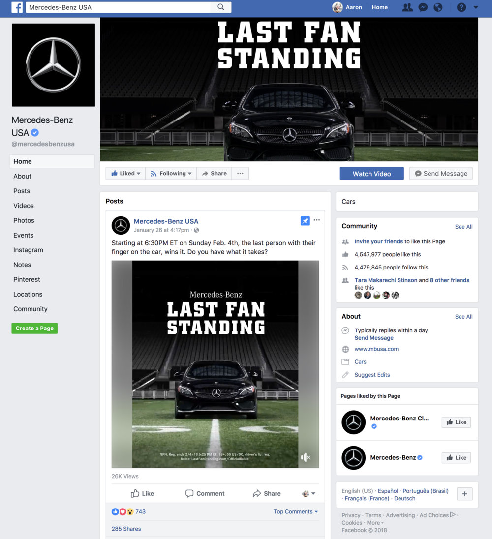 Go to their facebook profile to check out the cool promo video they did:  Mercedes-Benz