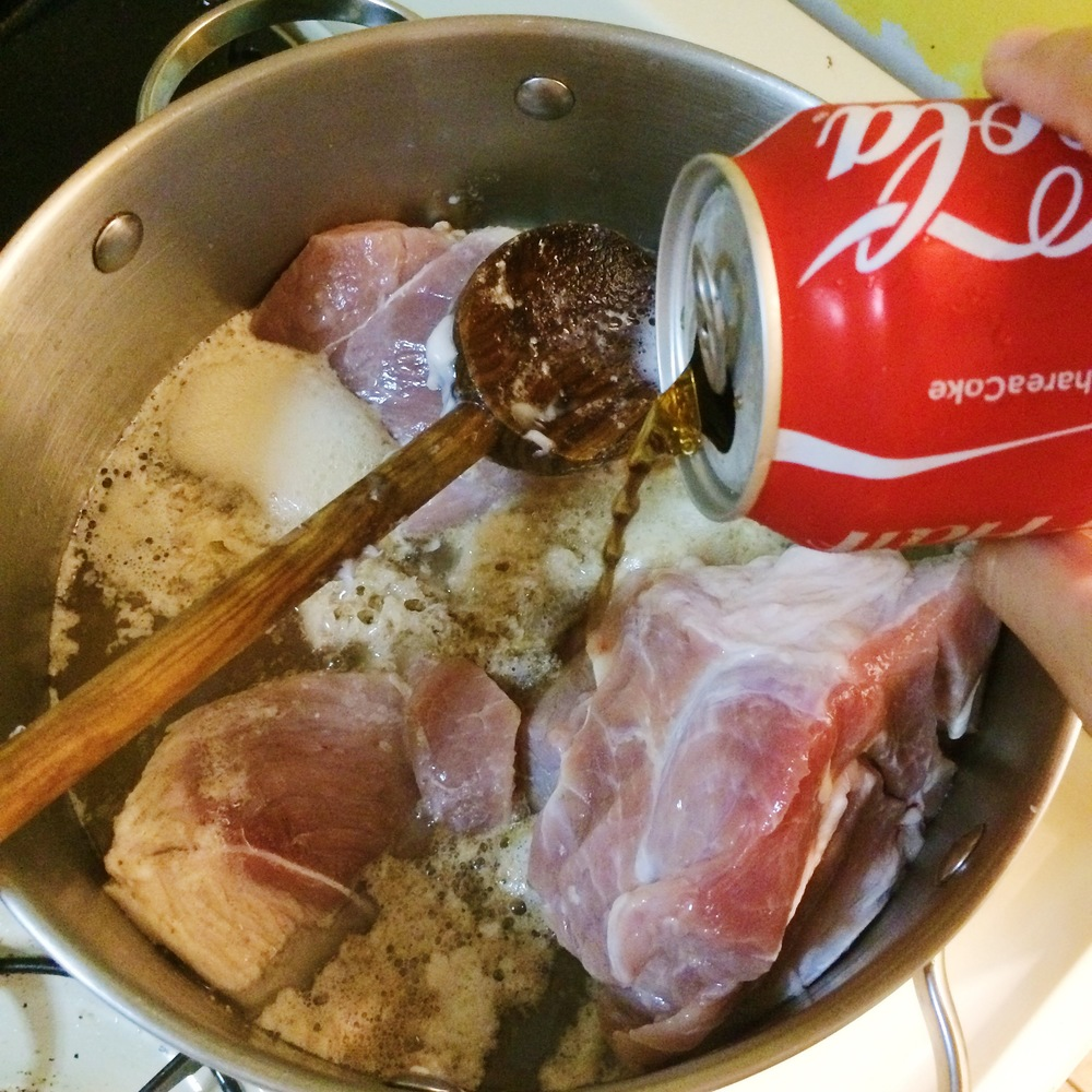secret ingredient to this pork: coke!