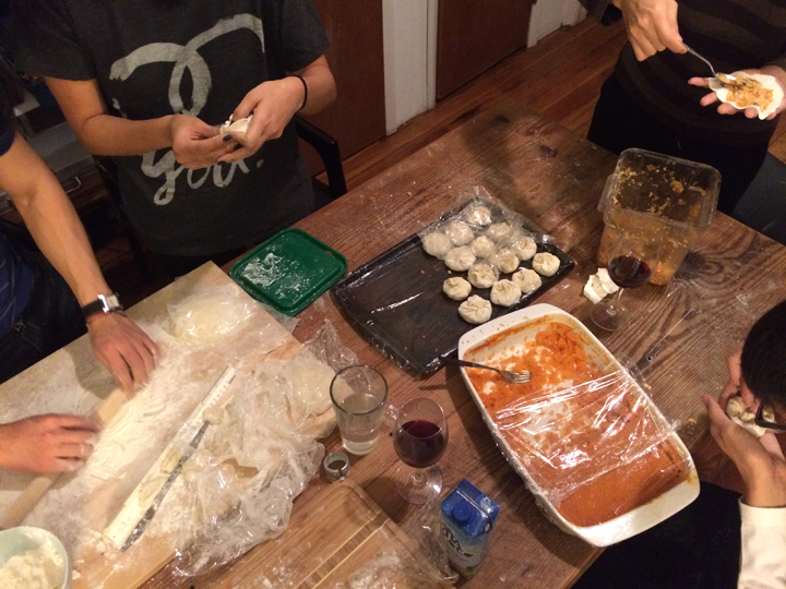 Takes a lot of hands to make a lot of dumplings
