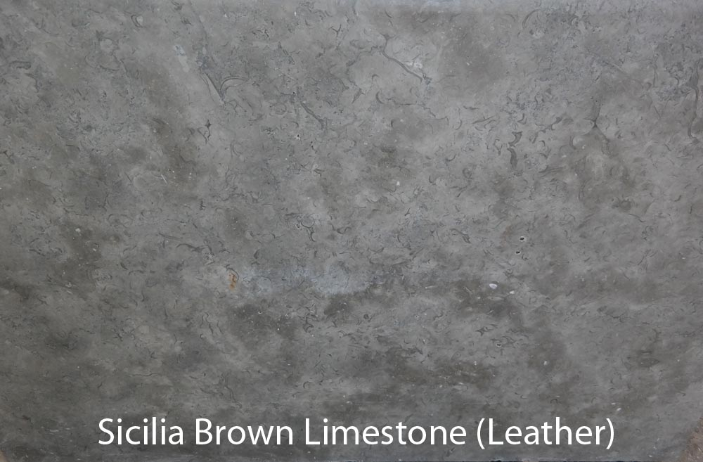 SICILIA BROWN LIMESTONE (LEATHER)