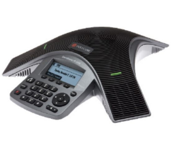 Simplicity VoIP Hosted PBX Provider of Business Telephone Systems & Solutions Polycom-2200-30900-025-SoundStation-IP-5000-Conference-Phone