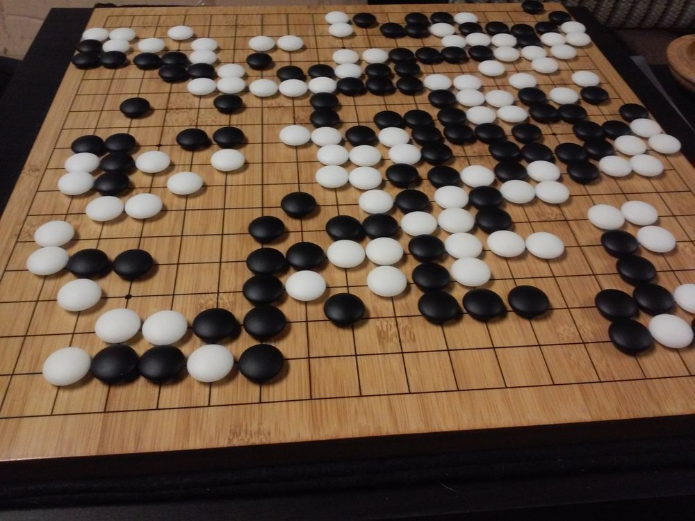 Finished game of Go