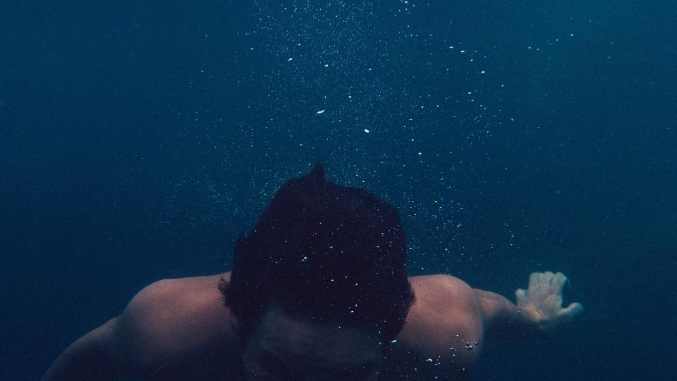 Person underwater