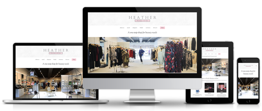 Heather Boutique - Website Design + Implementation