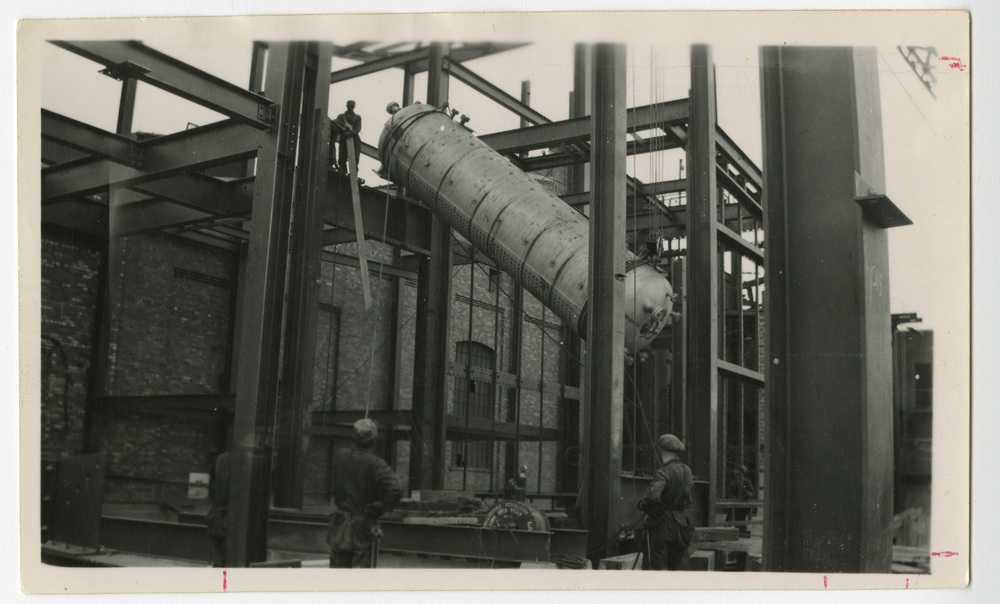 Installing a Steam Drum at Ocean Falls Generating Station, Ocean