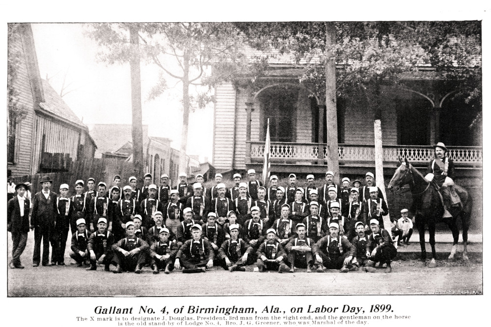 Boilermakers Lodge 4 (Birmingham, Ala.) on Labor Day, 1899