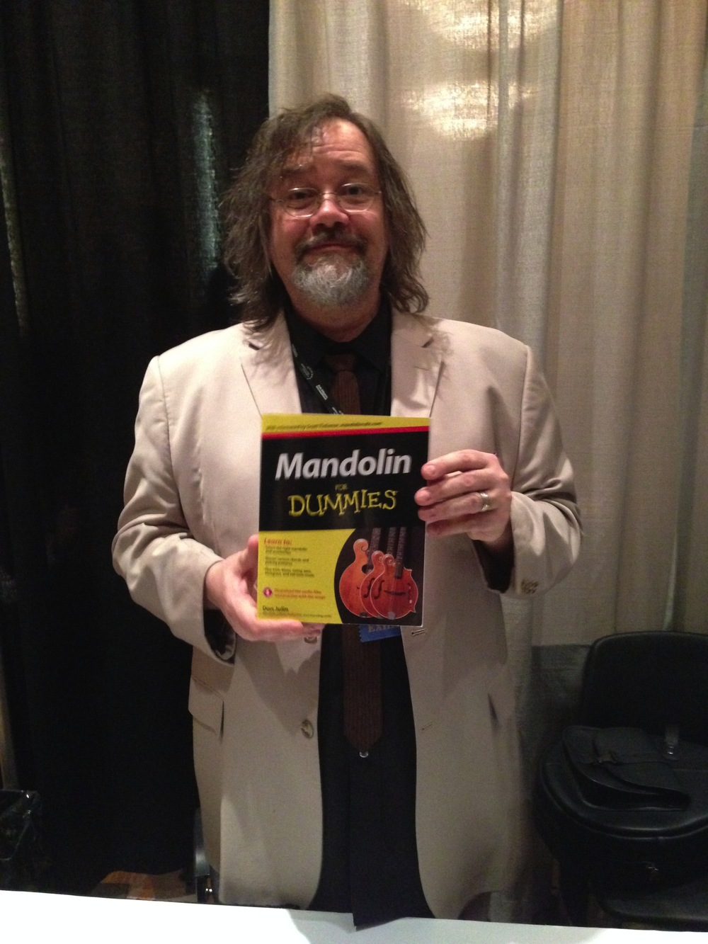 don julin with  Mandolin for dummies , photo bt scott tichenor