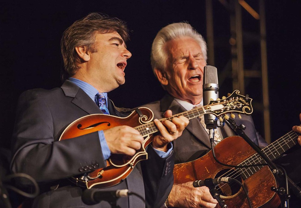 Ronnie McCoury and Del McCoury at Wintergrass 2015. Photo by Hermon Joyner.