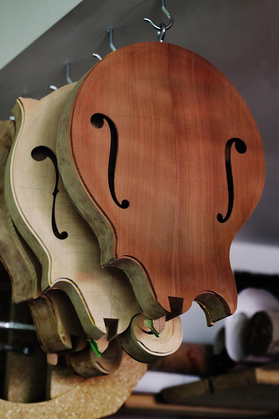 mandolins in progress, photo by hermon joyner.