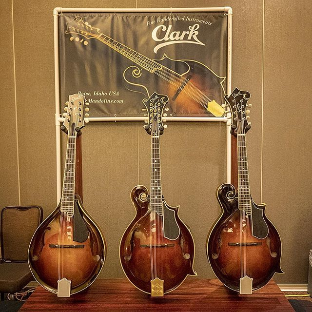 Three new Austin Clark mandolins at Wintergrass 2019. Impeccable fit and finish, and tone to die for.
