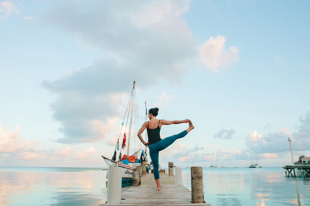 Terry Cockburn, owner of Freeport Yoga Company, in Caye Caulker, Belize