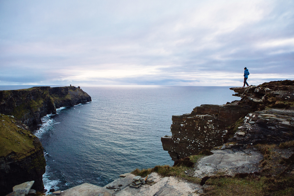 The Cliffs of Moher at dusk