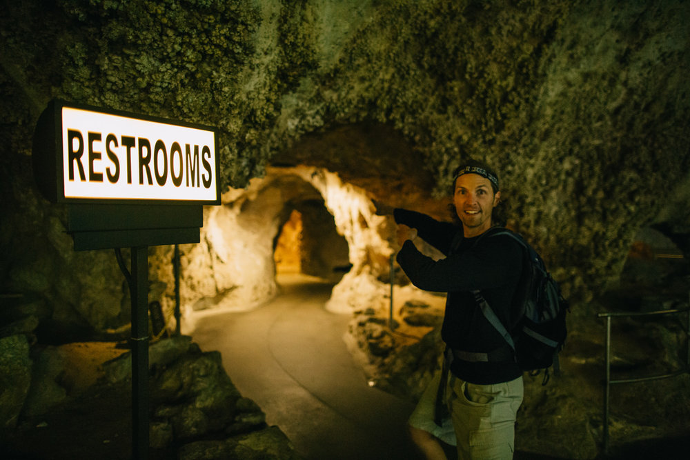 There are restrooms (fully plumbed) as well as a snack bar and gift shops nearly 800 feet below ground, which might just be the most ridiculous thing I've ever seen...