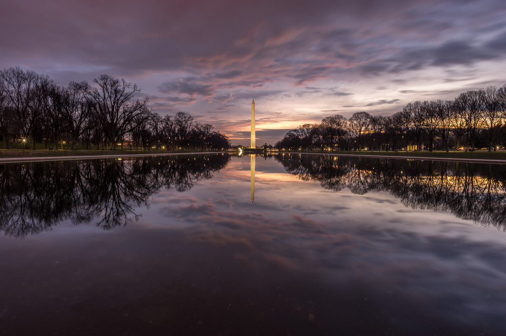 The Lincoln Memorial Reflection Pool, Washington D.C., December 2014