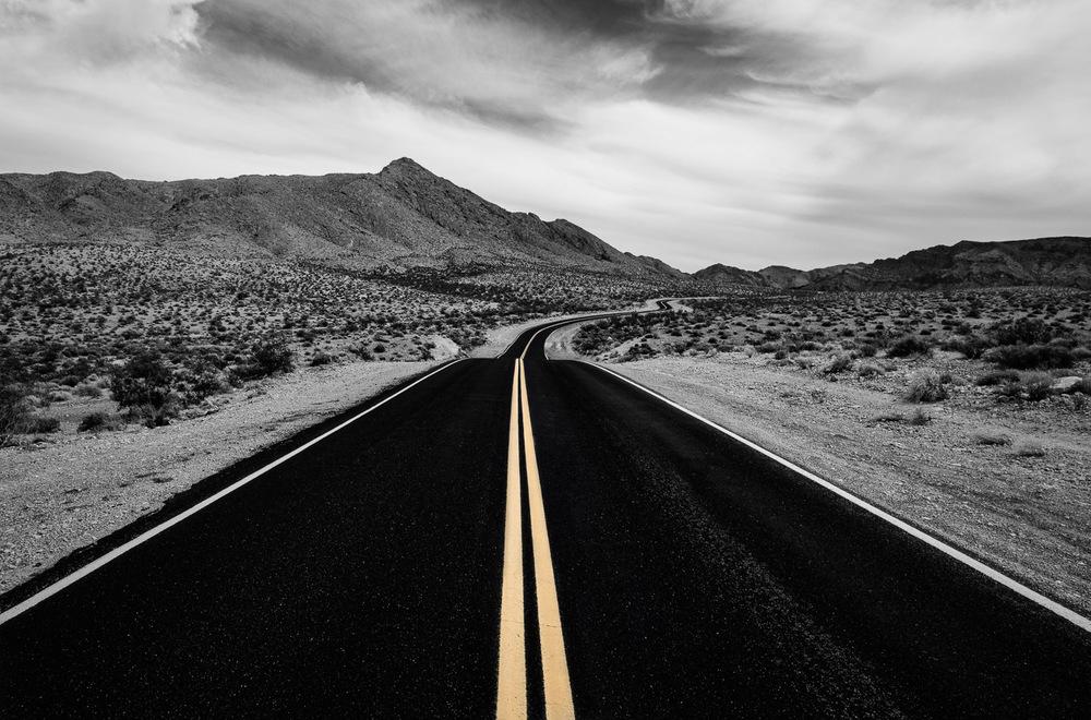 Desert road, Nevada, October 2014